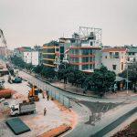 Máy móc triển khai rầm rộ tại dự án cầu Vĩnh Tuy giai đoạn 2.
