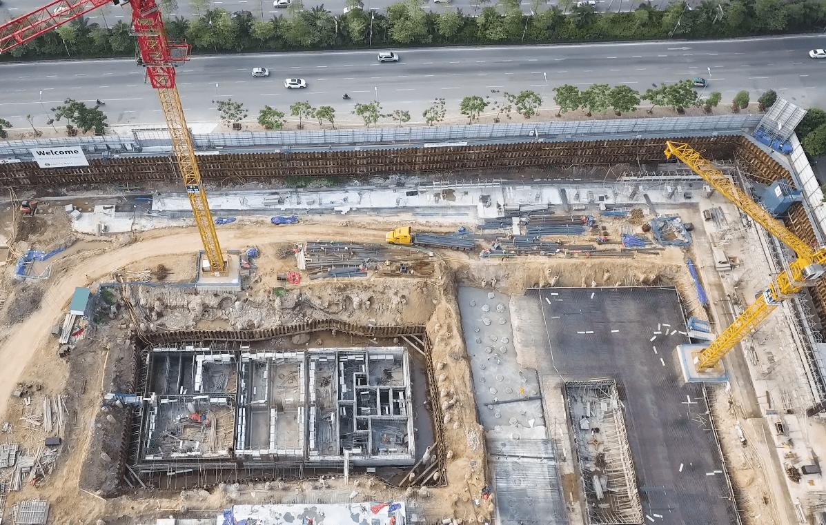 Dự án Lotte Mall Hà Nội có vị trí đắc địa giáp đường Võ Chí Công.