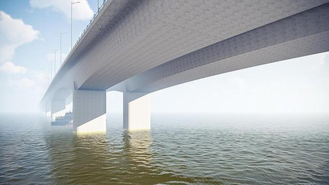 Cầu Vĩnh Tuy 2 sẽ có thiết kế giống cầu Vĩnh Tuy hiện tại.