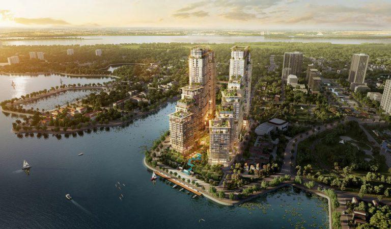 Phối cảnh dự án Sun Grand City Quảng An Westlake.