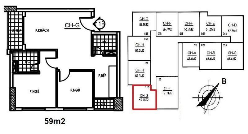 Thiết kế căn hộ Bảo Ngọc City ( Minh Họa ).