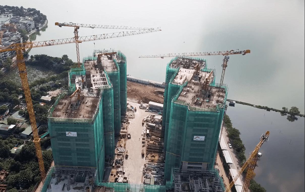 Dự án Sun Grand City Quảng An giáp ranh với Hồ Tây.
