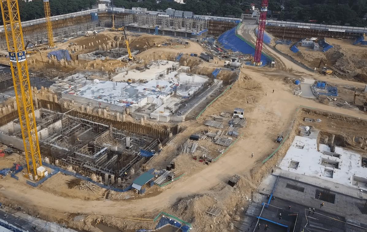 Cận cảnh tiến độ thi công của Lotte Mall Hà Nội.