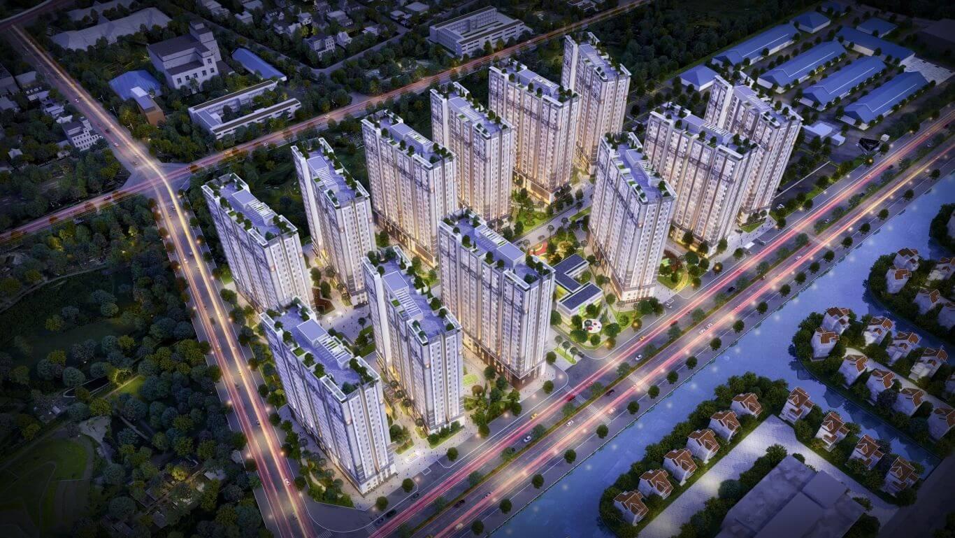 Phối cảnh dự án chung cư Him Lam Phúc Lợi.