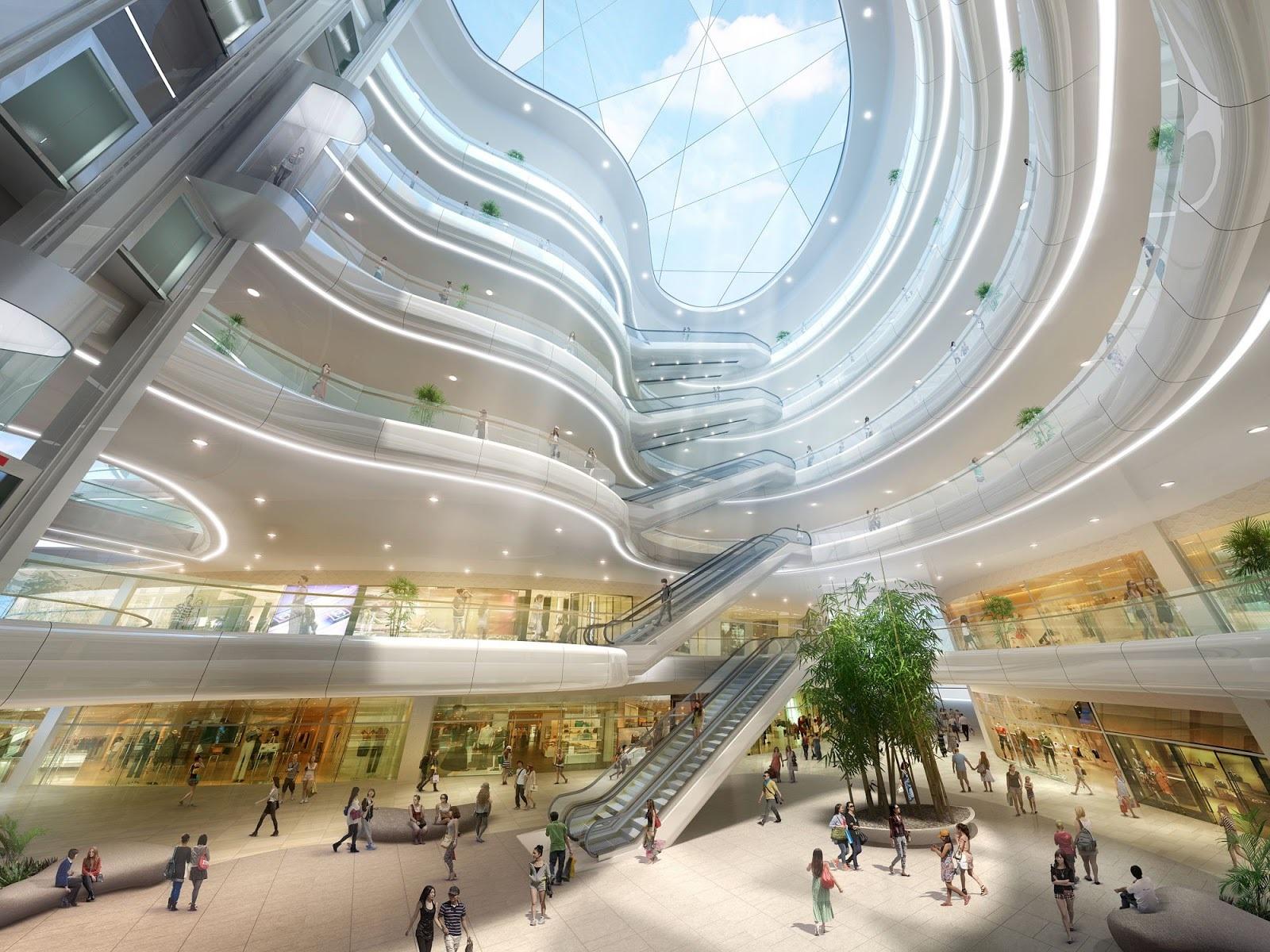 Nổi bật trong đó là khu trung tâm thương mại lớn bậc nhất miền Bắc.