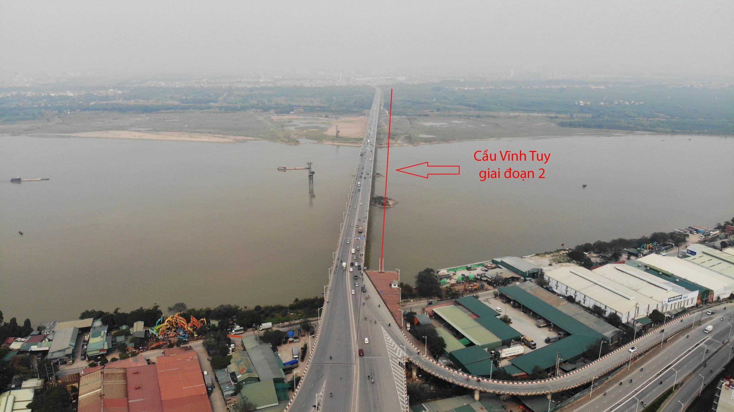 Vị trí cầu Vĩnh Tuy 2.