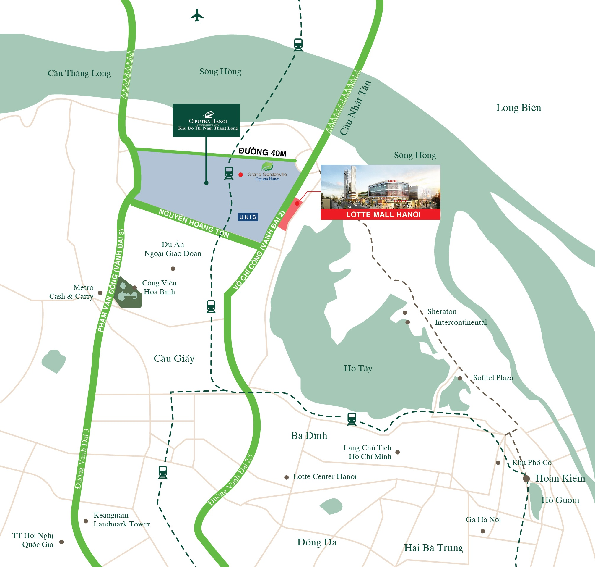 Vị trí dự án Lotte Mall Tây Hồ.