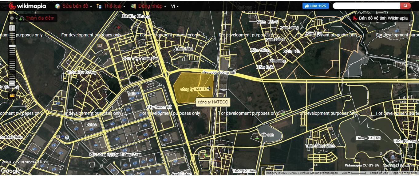 Vị trí dự án liền kề, shophouse, biệt thự, chung cư Hateco Đông Anh Kim Chung.