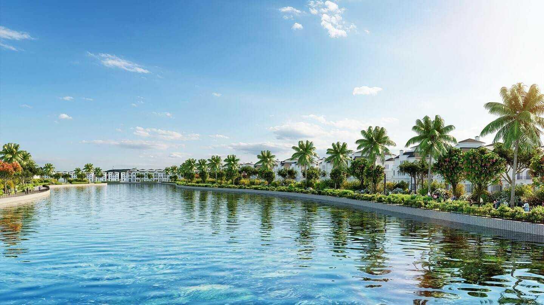 Không gian hồ nước, cảnh quan là điểm mạnh của Vinhomes Dream City Văn Giang.