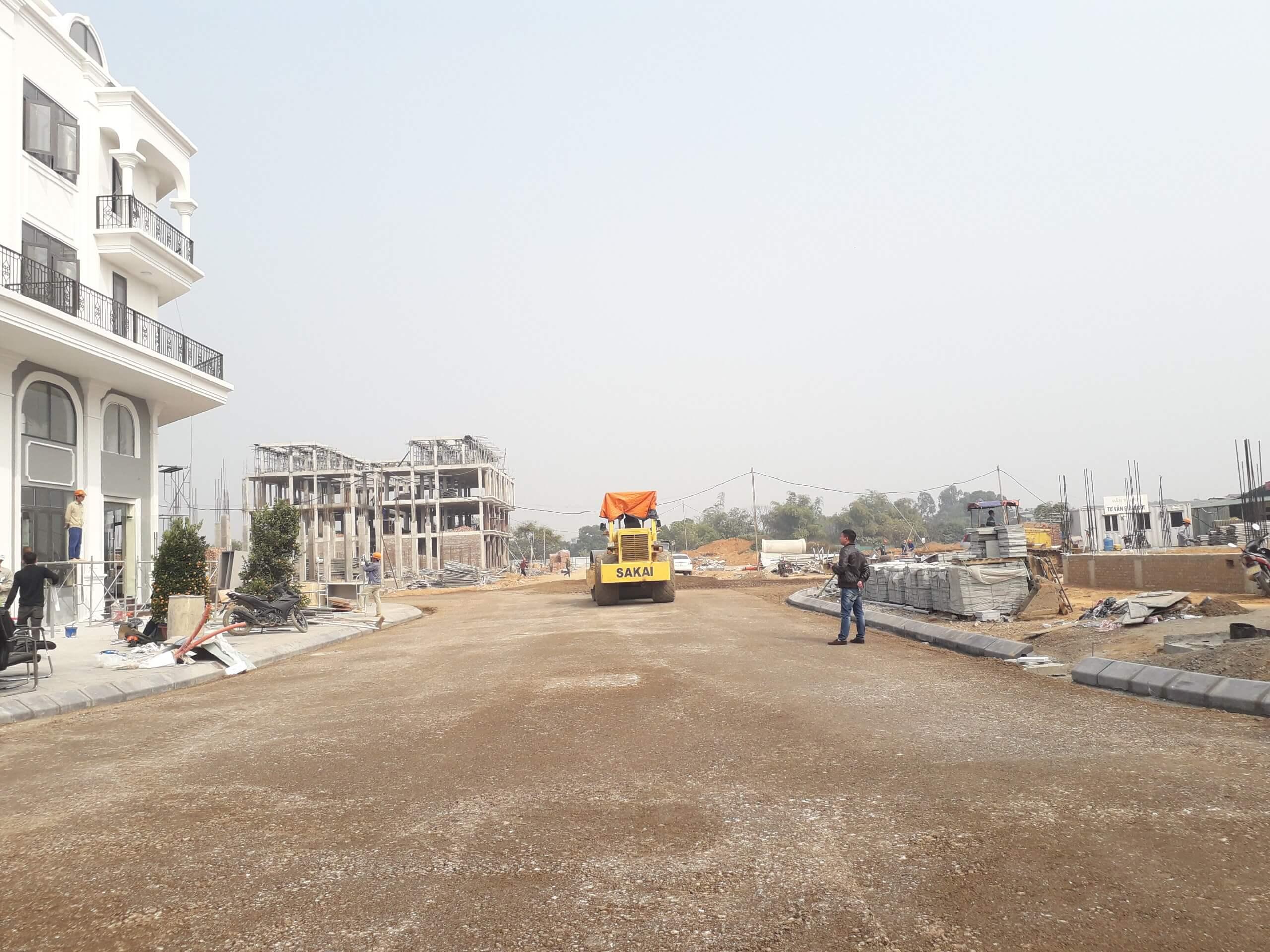 Trục đường chính tại dự án liền kề, shophouse Calyx Residence.