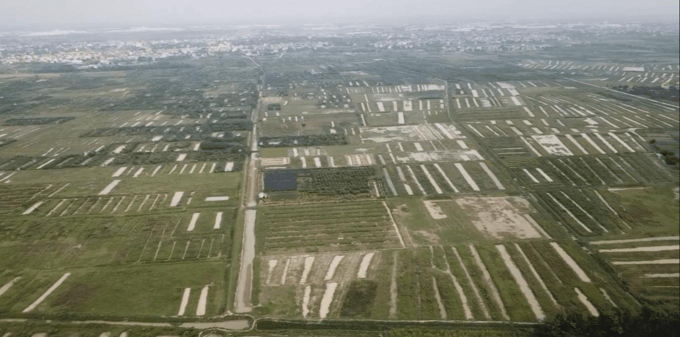 Không gian cánh đồng bao la, thẳng cánh cò bay tại vị trí triển khai Vinhomes Dream City Hưng Yên.