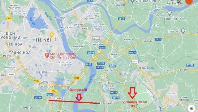 Vị trí dự án Vinhomes Dream City Hưng Yên.