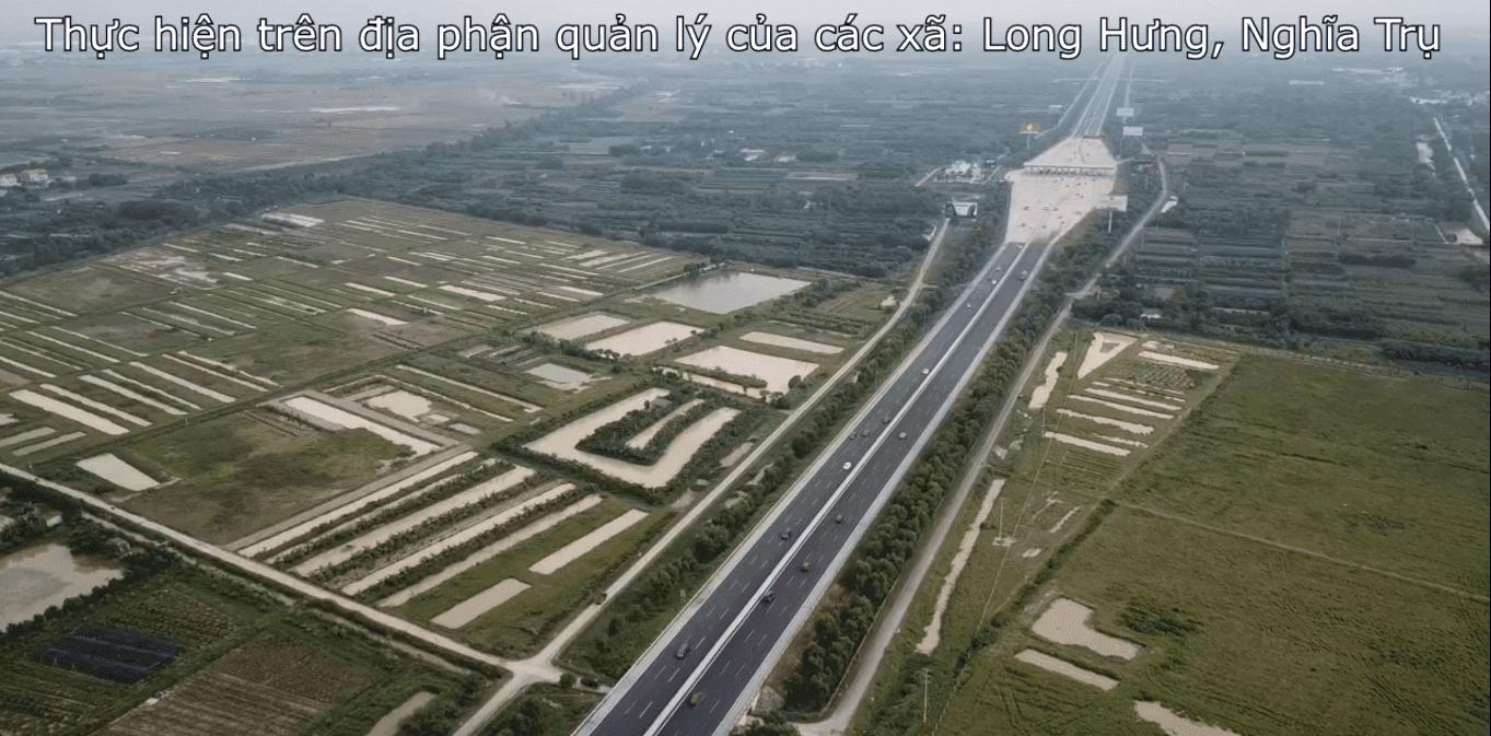 Vinhomes Dream City nằm trên địa bàn xã Long Hưng và Nghĩa Trụ thuộc huyện Văn Giang.