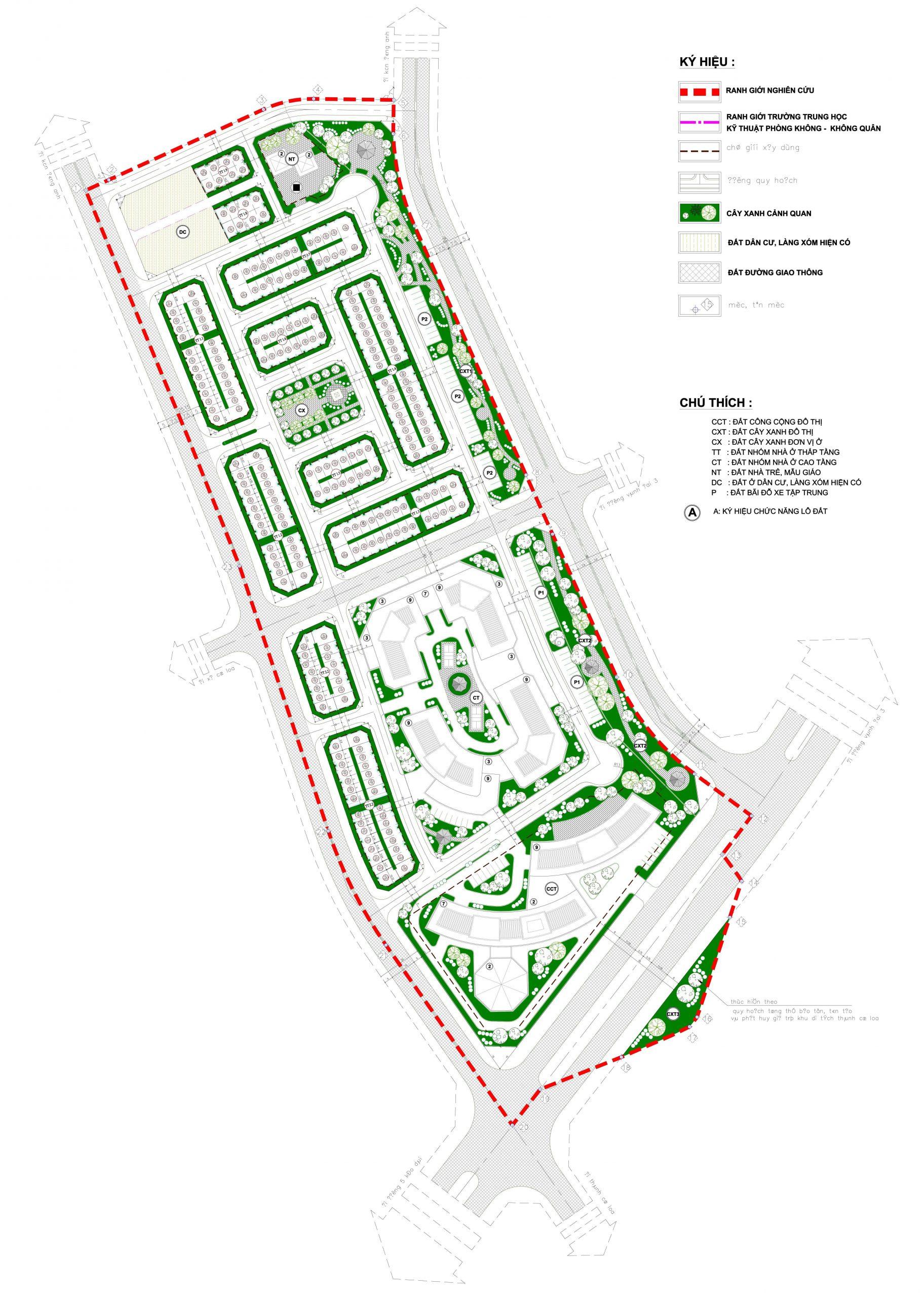 Phân lô, thiết kế Calyx Residence 319 Đông Anh.